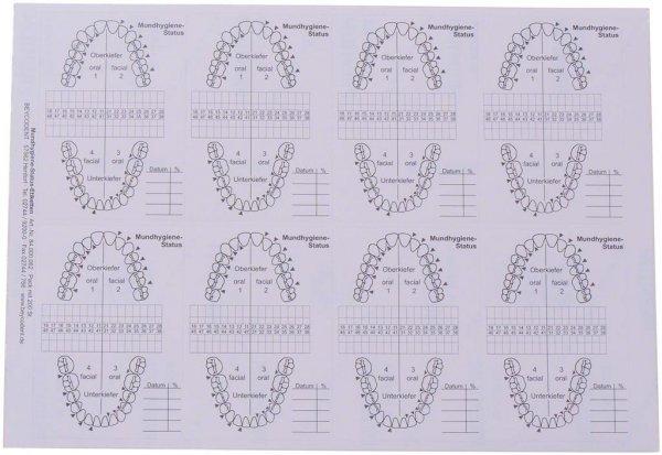 Mundhygiene-Status - Packung 200 Stück 75 x 100 mm von Beycodent