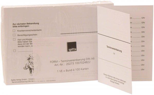 Terminvereinbarungskarte - Packung 100 Karten von Spitta Verlag
