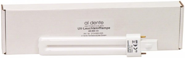 LUXOMINI Zubehör - Stück Blaulicht-Leuchtstoffröhre, 9 W, 400 - 500 nm von al dente Dentalprodukte