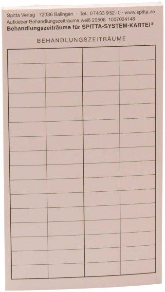 Übersicht Behandlungszeiträume - Block 50 Aufkleber von Spitta Verlag