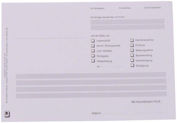 Kurzbrief - Packung 100 Blatt 1-fach von Beycodent