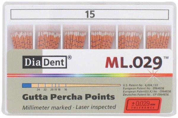 DiaDent® ML.029™ Gutta Percha Points - Packung 120 Stück ISO 015 von Diadent