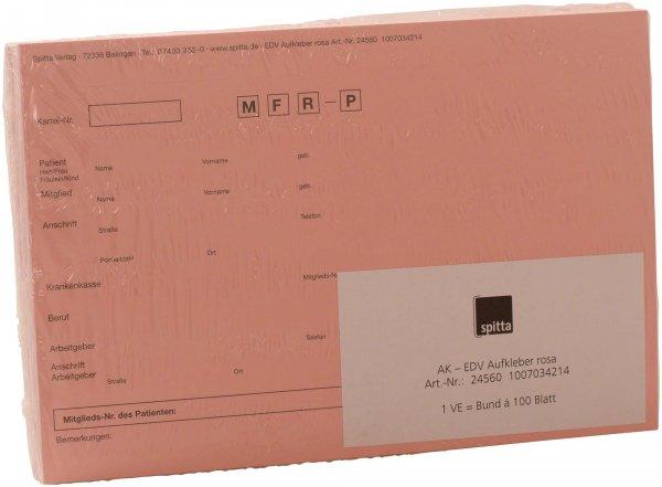Adressaufkleber DIN A5 - Packung 100 Aufkleber rosa von Spitta Verlag
