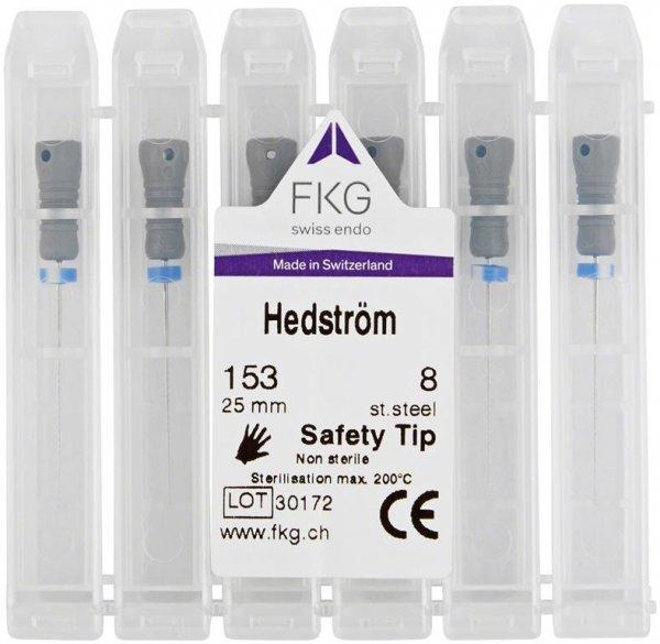 Hedstroemfeile Standard SMG - Packung 6 Stück 25 mm ISO 008 von American Dental