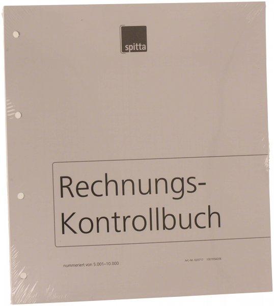 Einlageblatt - Packung 140 Blatt Rechnungs-Kontrollbuch nummeriert (5001-10 ... von Spitta Verlag