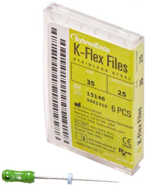 K-Flex Files - Packung 6 Feilen 25 mm ISO 035 von SybronEndo