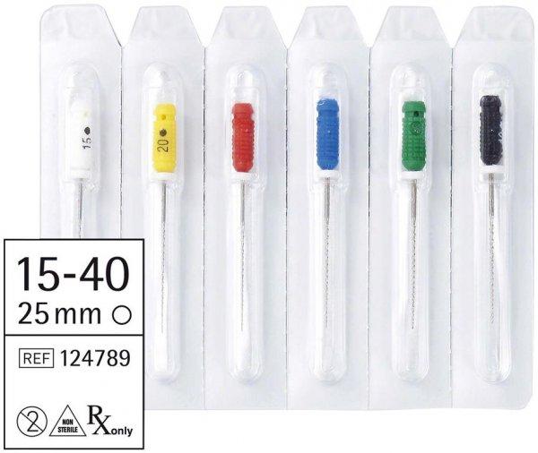 smart Hedstroemfeilen - Sortiment 6 Stück 25 mm ISO 015-040 von smartdent