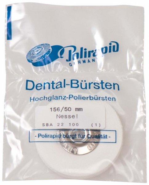 Schmalbürste - Stück Bürste mit Aluzentrum, Nesselstoff, Ø 50 mm von Polirapid