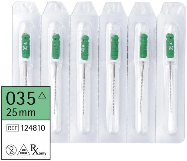 smart K-Bohrer - Packung 6 Stück 25 mm ISO 035 von smartdent