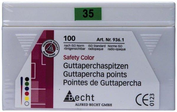 Guttaperchaspitzen Safety Color - Packung 100 Stück ISO 035 von Becht