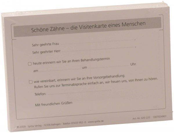 Recallkarte Erinnerung - Packung 100 Postkarten von Spitta Verlag