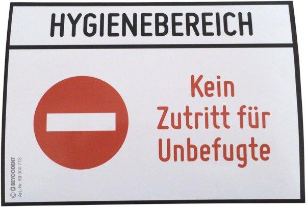 Hinweis-Etiketten - Stück Kein Zutritt von Beycodent