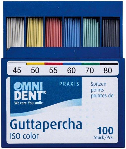 Guttaperchaspitzen - Sortiment 100 Stück ISO 045-080 von OMNIDENT