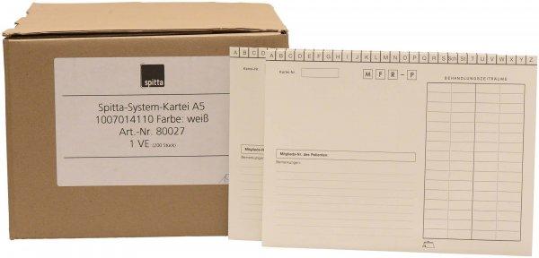 System Karteikarten für Adrema - Karton 200 Karten weiß von Spitta Verlag
