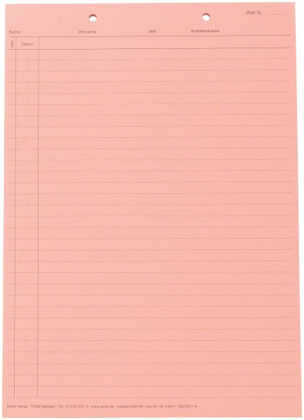 System Karteikarten für Adrema - Karton 200 Karten rosa von Spitta Verlag