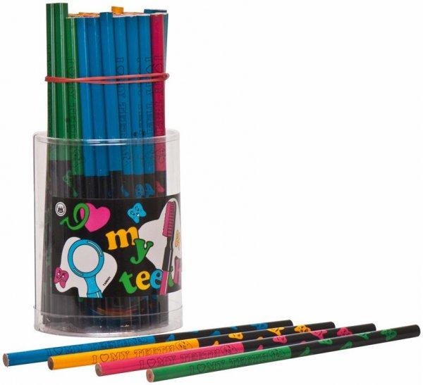 Zahnbleistifte - Packung 72 Bleistifte in vier Farben von MirusMix