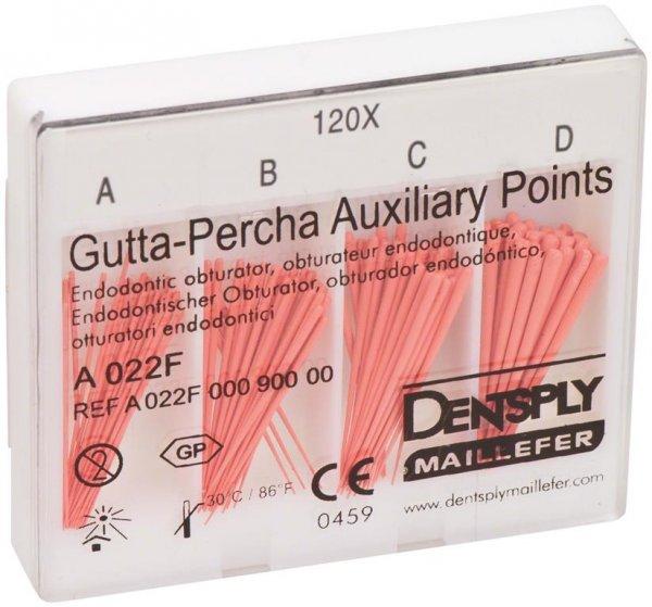 Guttapercha Hilfsspitzen - Sortiment 120 Stück 24 mm, A-D von Dentsply Sirona