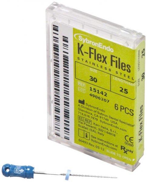 K-Flex Files - Packung 6 Feilen 25 mm ISO 030 von SybronEndo