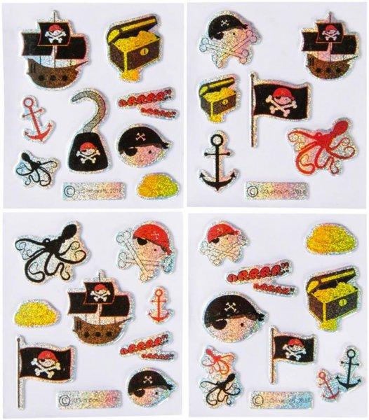 Aufkleber - Packung 100 Aufkleber Pirat von MirusMix