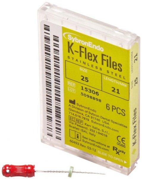 K-Flex Files - Packung 6 Feilen 21 mm ISO 025 von SybronEndo