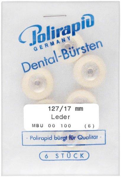 Lederscheiben - Packung 6 Bürsten Ø 17 mm, unmontiert von Polirapid