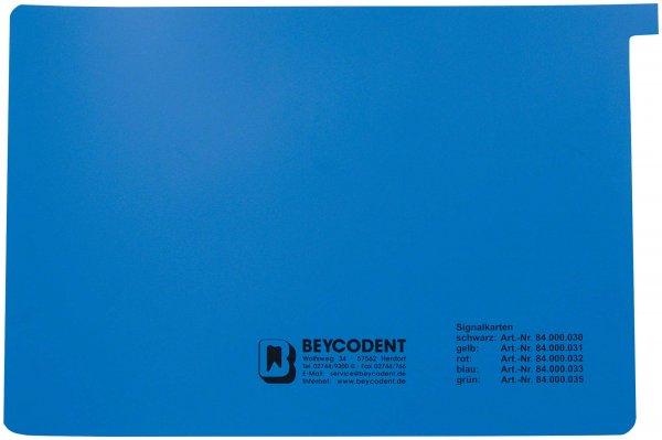 Signalkarten A5 - Packung 50 Karten blau von Beycodent