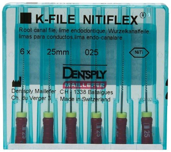 File NiTiflex - Packung 6 Stück 25 mm ISO 025 von Dentsply Sirona