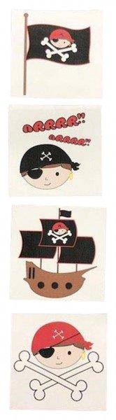 Tattoos - Packung 288 Tattoos Pirat von MirusMix