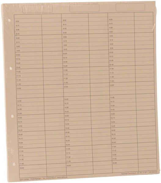 Einlageblätter 6-spaltig mit Pause - Packung 50 Blatt reißfestes Papier von Spitta Verlag