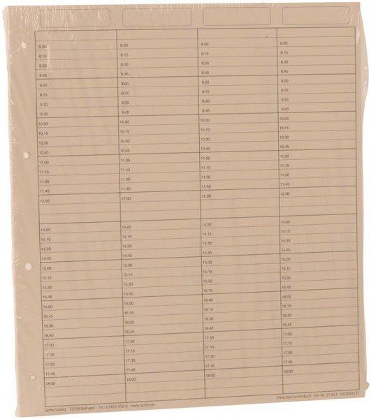 Einlageblätter 4-spaltig mit Pause - Packung 50 Blatt reißfestes Papier von Spitta Verlag