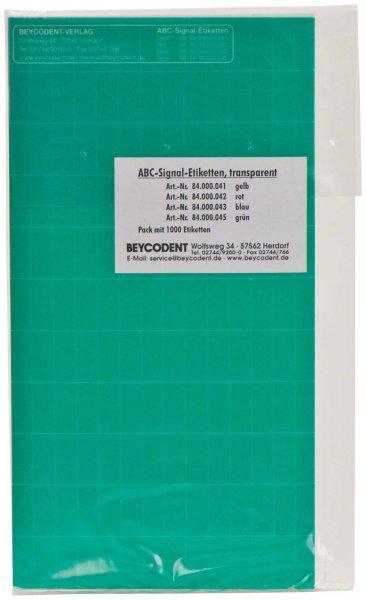 ABC-Signaletiketten - Packung 1000 Etiketten grün von Beycodent
