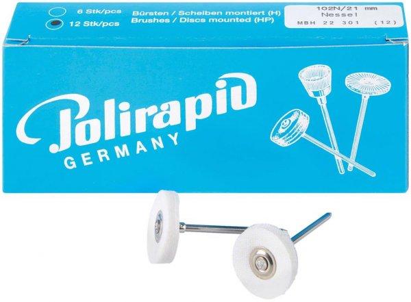 Miniaturbürste - Packung 12 Bürsten Nessel, Ø 21 mm von Polirapid