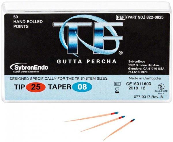 TF™ Guttapercha - Packung 100 Stück Taper.08, ISO 025 von Kerr