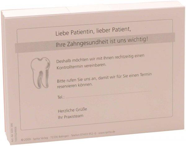 """Postkarte - Packung 100 Karten """"Vereinbarung Kontrolltermin"""" von Spitta Verlag"""