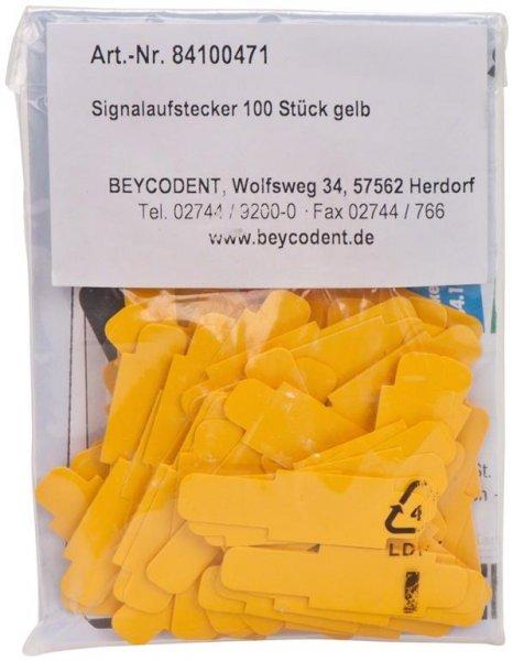Signalaufstecker - Packung 100 Aufstecker gelb von Beycodent