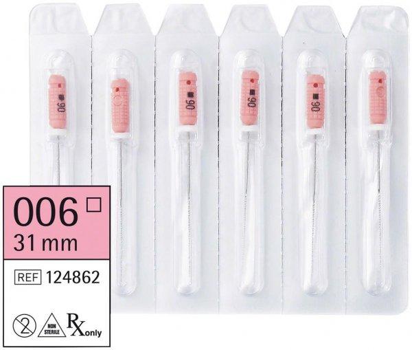 smart K-Feilen - Packung 6 Stück 31 mm ISO 006 von smartdent