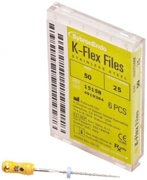 K-Flex Files - Packung 6 Feilen 25 mm ISO 050 von SybronEndo