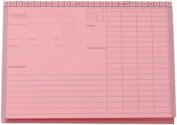Karteimappe A5 / Medico - Packung 100 Mappen rosa von Beycodent