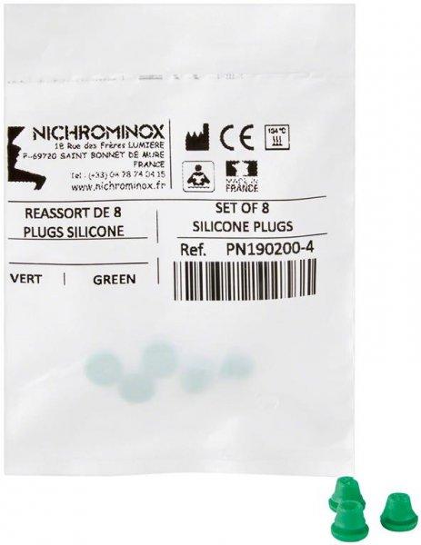 Silikon-Einsätze - Packung 8 Einsätze grün von NICHROMINOX
