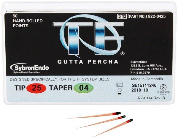 TF™ Guttapercha - Packung 100 Stück Taper.04, ISO 025 von Kerr