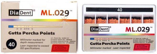 DiaDent® ML.029™ Gutta Percha Points - Packung 120 Stück ISO 040 von Diadent