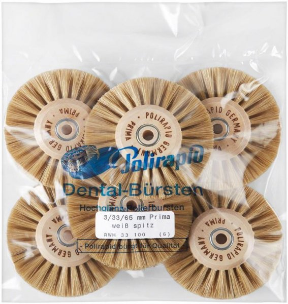 Prima Bürste - Packung 6 Bürsten RWH 33 100 von Polirapid