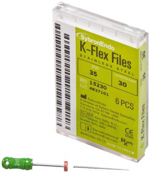 K-Flex Files - Packung 6 Feilen 30 mm ISO 035 von SybronEndo