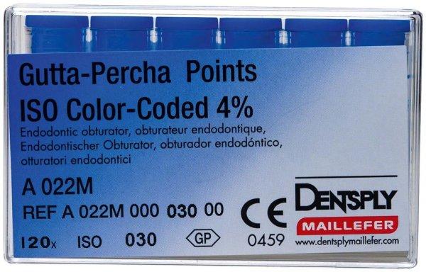 Gutta-Percha Spitzen - Packung 120 Stück Taper.04 ISO 030 von Dentsply Sirona