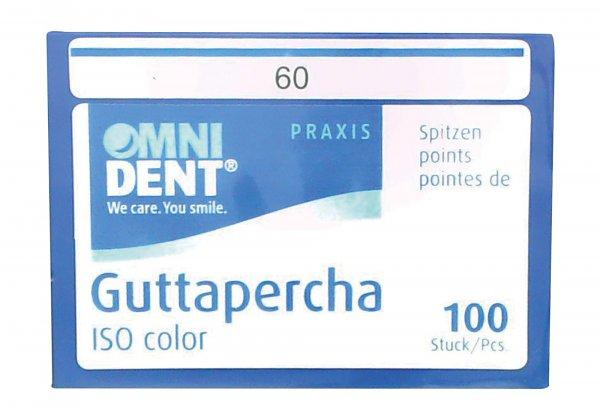 Guttaperchaspitzen - Packung 100 Stück ISO 060 von OMNIDENT