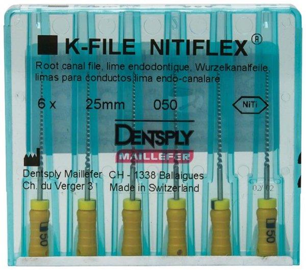 File NiTiflex - Packung 6 Stück 25 mm ISO 050 von Dentsply Sirona