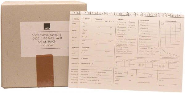 System Karteikarten KFO - Karton 150 Karten von Spitta Verlag