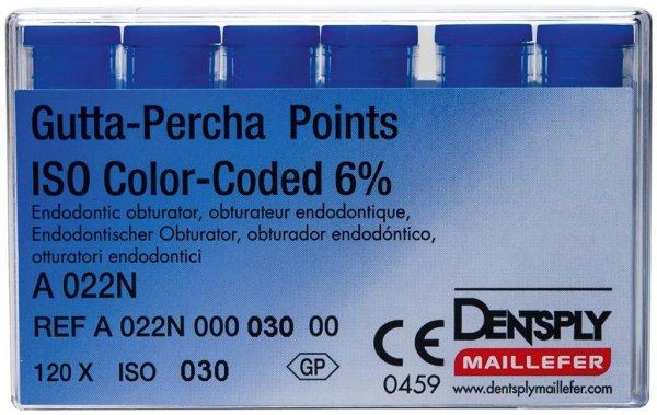 Gutta-Percha Spitzen - Packung 120 Stück Taper.06 ISO 030 von Dentsply Sirona