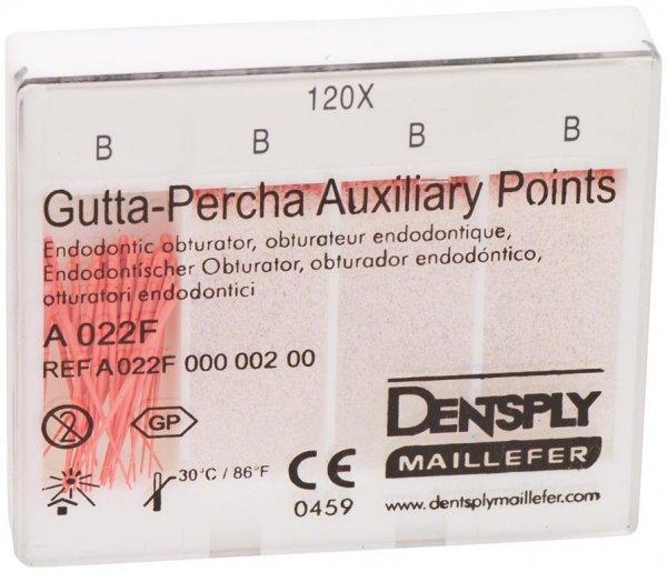 Guttapercha Hilfsspitzen - Packung 120 Stück 24 mm, B von Dentsply Sirona