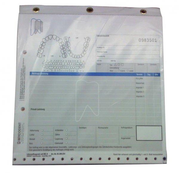 Labor-Auftrag professionell - Packung 100 Blatt 20 x 21 mm von Beycodent